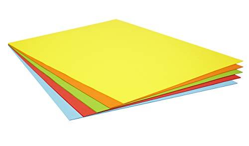 Pack 25 Cartulinas Colores Intensos Tamaño 50X65 180g