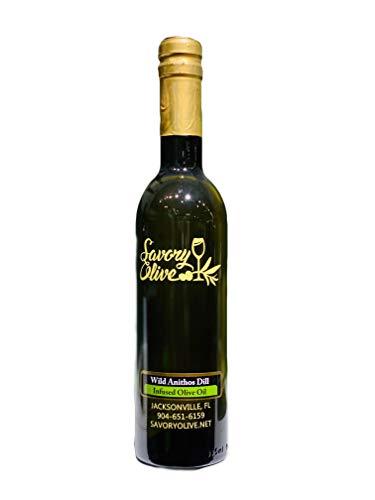 Wild Anithos Dill Olive Oil - Certified Ultra Premium, Gluten Free, NON-GMO, Certified Kosher (12.7oz (375ml))