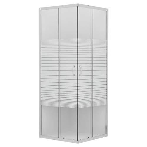 vidaXL Duschabtrennung Eckeinstieg ohne Duschwanne Schiebetür Duschkabine Duschwand Duschtrennwand Dusche Badezimmer Sicherheitsglas 4mm 80x80x185cm