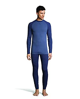 Hanes Men's 4-Way Stretch Crew Neck Long Sleeve T-Shirt with X-Temp & FreshIQ Technology