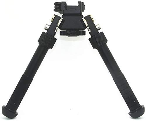 Erobo V8 Rifle Bipod Tilt 360 Degree Tactical Bipods 6.5-9 inch Bipod Adjustable Picatinny Rail Mount Rotation Adapter for Outdoor,Range,Hunting and Shooting