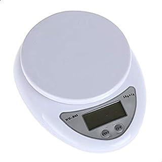 مقياس وزن تلقائي التصفير ووقف التشغيل بتصميم رقمي للمطبخ يقيس بوحدات الكغم والغرام والباوند والاونصة بقدرة حمل 5 كغم ودقة ...