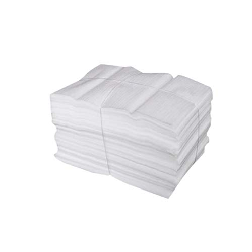 WINOMO 100pcs Foam Pouches Cushion Shockproof Shatterproof Foam Wrap Sheets Packing Bags for Dishes Glass Cups Moving Shipping- 25X30CM (White)