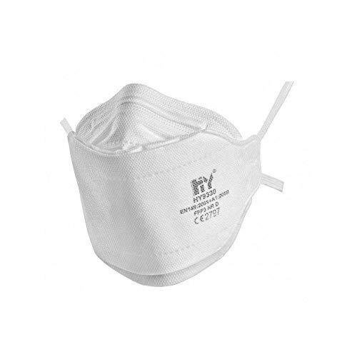 FFP3 Atemschutzmaske Gesichtsmasken (x20) - En 149: 2001 Und A1 : 2009 Nachgiebig, 4 Punkt Kopfband Mit Gepolstert Futter für Zusätzlichen Komfort Und Sicherheit