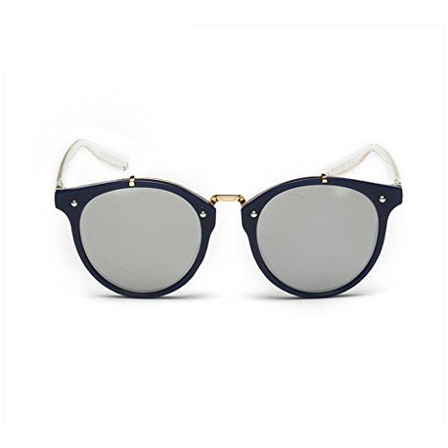 QHGstore Hombres Mujeres Nuevas gafas de sol al aire libre UV400 de conducción espejo Gafas Blue/silver