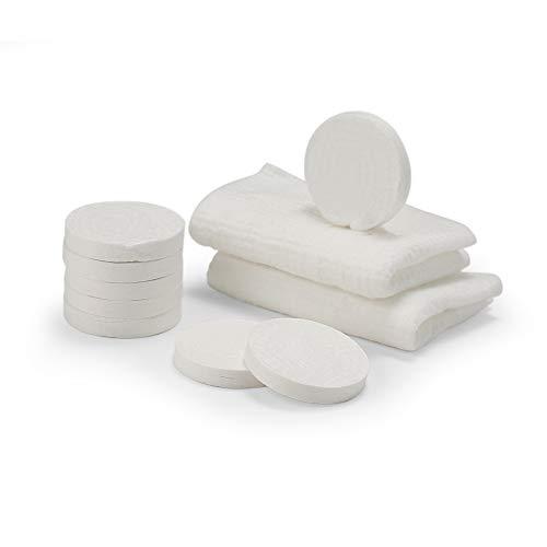 Mini toallas comprimidas de 10 piezas, desechables, portátiles, de algodón comprimido, para viajes, camping, senderismo, deportes, salón de belleza, toallitas para el hogar