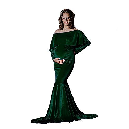 ZLZNX Vestido Elegante De Maternidad Fotografía Vestido De Novia para Sesión De...