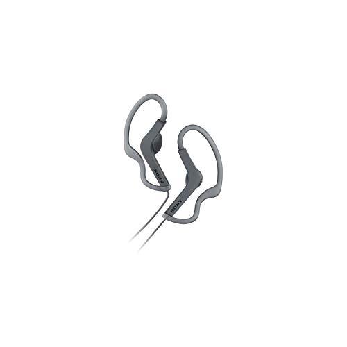 Sony MDRAS210B.Ae - Auriculares Deportivos de Botón con Agarre al Oído (Resistente a Salpicaduras), Color Negro, 5