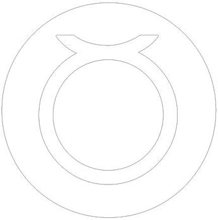 ピクトグラム おうし座 ステッカーデカール (白色 )