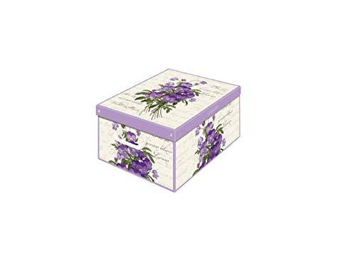 KANGURU Scatola per la sistemazione con Coperchio profumato Collection Small Violetta