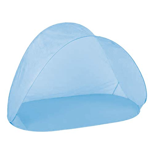 INDA-Exclusiv Pop Up Strandmuschel Wurfzelt Camping Windschutz Outdoor Sonnenschutz Zelt inkl. Tasche blau H97xB150xT80cm