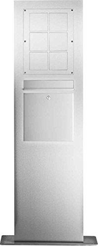 Elcom brievenbus staande zuil SMF-6/2EM Ed, 6mod,BK voor Modesta communicatiezuil 4250111846240