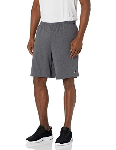 Champion Men's Jersey Short With Pockets, Granite Heather, XX-Large