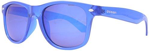 Ocean Sunglasses Beach Wayfarer - Gafas de Sol polarizadas - Montura : Azul Transparente - Lentes : Azul Espejo (18202.12)