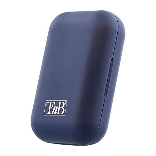 T'nB EBSHINYBL Auriculares Bluetooth TWS con Caja de Carga, Blanco/Azul