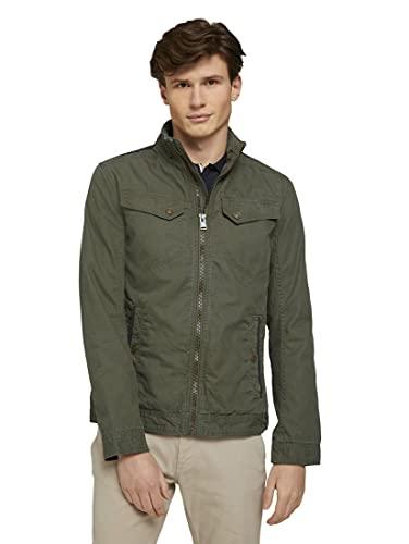 Tom Tailor 1024291 Cotton Chaqueta, Olive 13050-Ovillo de Peluche, Color Verde, M para Hombre