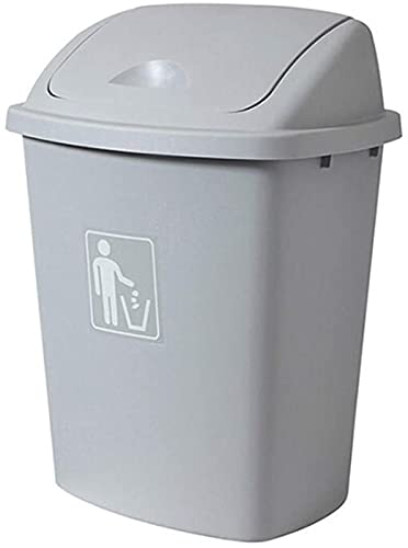 Papelera de Reciclaje de residuos/Papelera Bote de Basura de plástico de Gran Capacidad Bote de Basura para Exteriores Diseño de Tapa abatible Fábrica aplicable Residencial