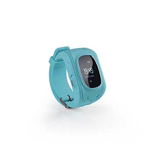 EASYmaxx Kinder Smart Watch Mit GPS Funktion | Smartwatch Für Jungen Und Mädchen Mit GPS, SOS Telefon, Standortlokalisierung, Tracker | Elektrisches Digital Armband Ohne Handy verwendbar (Blau)