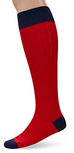 Hackett London Herren Kniestrümpfe Merino Socks Long, Rot (Red 255), 39/42 (Herstellergröße: S/M)