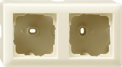 Gira Aufputzgehäuse 006201 2fach Standard 55 cremeweiss