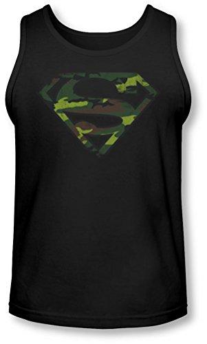 Superman - - Distressed Camo Bouclier Débardeur Homme, Large, Black
