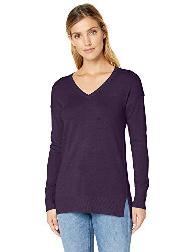 Amazon Essentials - Jersey ligero tipo túnica con cuello en V para mujer, Morado (Purple Heather Pur), US S (EU S - M)