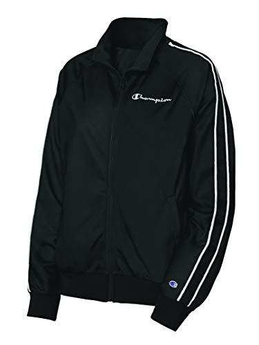 Champion Damen Track Jacket Jacke, schwarz/weiß, X-Klein