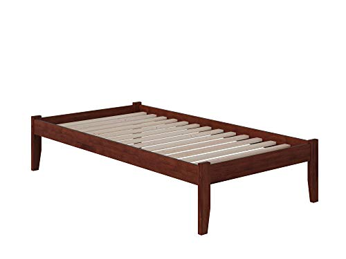 Atlantic Furniture 4 Concord Platform Bed with Open Foot Board, Twin XL, Walnut