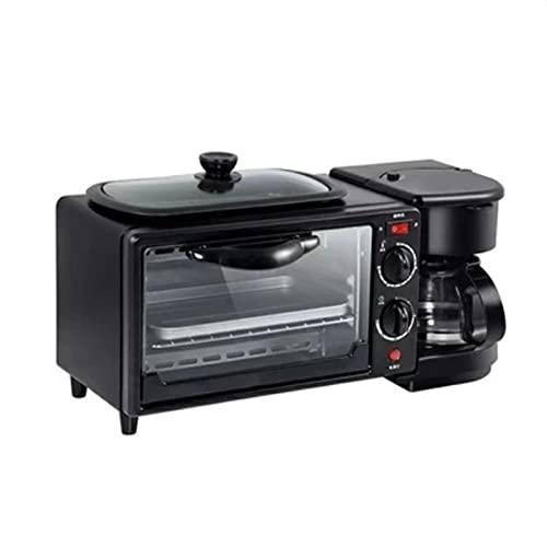 COLU Máquina de Desayuno, máquina de Desayuno de Gran Capacidad 9L con Control de Temperatura de convección multifunción y Tiempo, con cafetera, sartén, Bandeja para Hornear