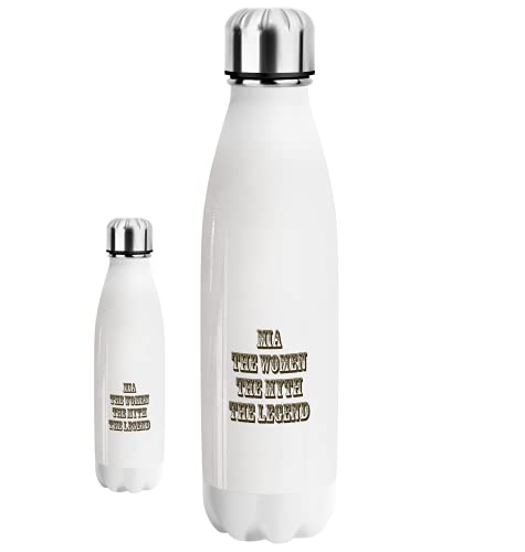 Generic Mia The Woman The Myth The Legend Water Bottle 500ml Borraccia, Thermos Gift, Funny Gift for Men Regalo Divertente, Sports Gym Palestra, Reusable