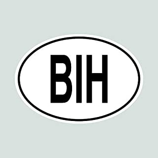 BIH Bosnia and Herzegovina Country Code Oval Sticker Decal Vinyl Made in USA