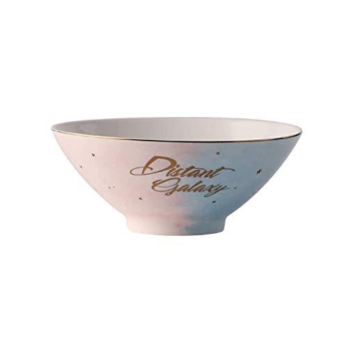 GWSGSCSL 8 Inch Ceramic Bowl, Practical Soup Bowl, Pasta Bowl, Restaurant Bowl, Home Kitchen Utensils