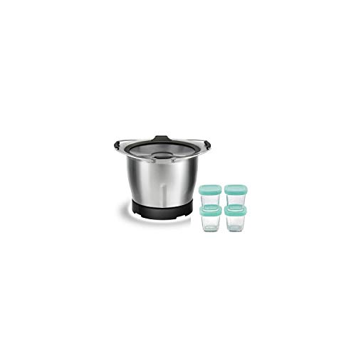 Moulinex Mini Bol + 4 Pots en verre Bébé pour gamme Companion XF387E10