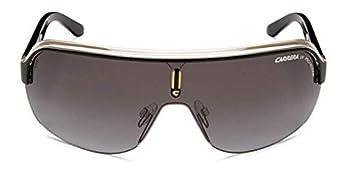 Carrera TOPCAR 1/S Pilot Sunglasses Black Crystal Yellow Frame/Gray Gradient Lens 76 mm