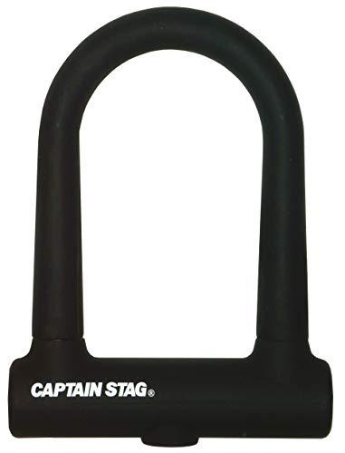 【Amazon.co.jp 限定】 キャプテンスタッグ(CAPTAIN STAG) 自転車 鍵 ロック U字ロック U型ロック シリコンカバー ダブルディンプルキー ブラック Y-7352 lサイズ