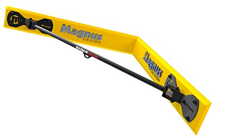 MAGNUS® POWER MP3038 Klimmzugstange (Wandmontage Ecke) + Handschuhe + Halterung für Sling Trainer / Boxsack