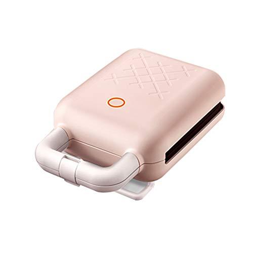 Kleine wafelijzer, Intelligent-temperatuur gecontroleerde Cloud-Wave warm ontbijt Machine, twee sets van de bakplaten, afneembaar en gemakkelijk te reinigen, geschikt voor wafels en sandwiches,Pink