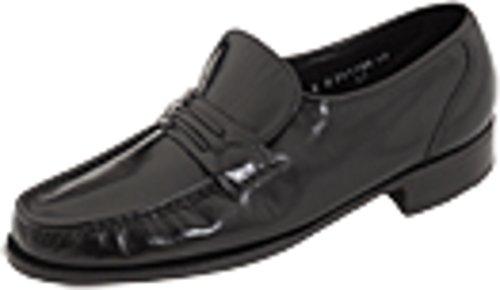 Florsheim Men s Como Flat Strap Loafer Black 11 D