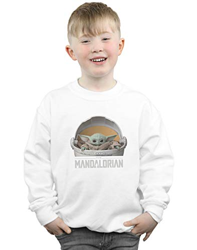 Star Wars Niños The Mandalorian The Child Pod Camisa De Entrenamiento Blanco 9-11 Years