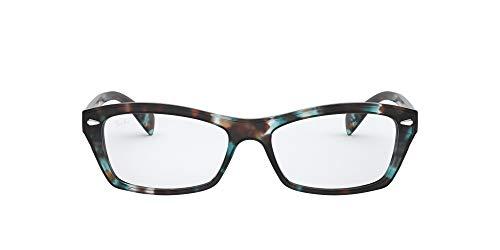 Ray-Ban 0rx5255 Gafas de Lectura, Havana Opal Hellblau/Demo Objektiv, 51 MM Unisex Adulto