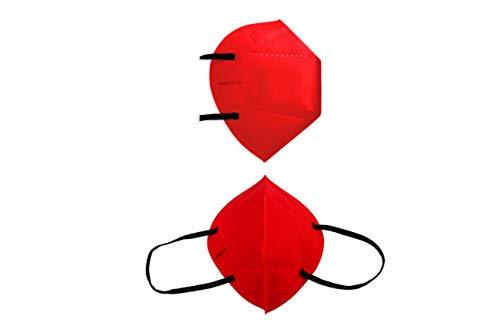Airnatech Mascarilla Higiénica Plus Roja - Protección Bidireccional - 5 Unidades -...