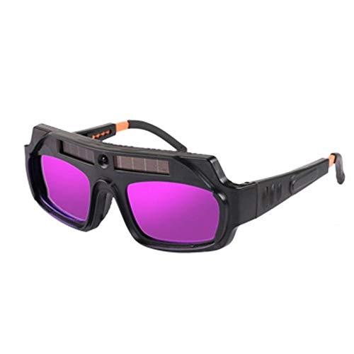 Casco de soldador Gafas de soldar Gafas de soldadura Gafas de soldadura Vidrios anti-deslumbramiento Glasses Anti-Radiación Glaseo Seguro de trabajo Argón Arco Soldadura Gafas (Color : A)