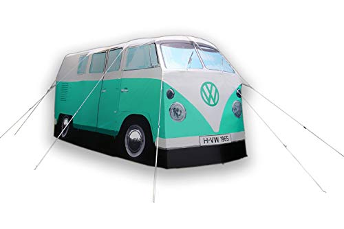 Unbekannt VW Bulli mintgrün, Camping Bus Zelt - Bully Camper Zelt. Kreative Geschenkidee - Das ideale Geburtagsgeschenk Camping- und Autoliebhaber.