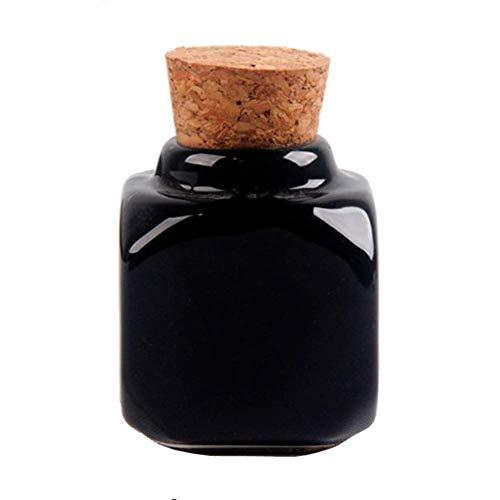 Surakey Plat Dappen avec couvercles en liège, Plat à ongles en porcelaine, 1 pièce en porcelaine pour nail art acrylique liquide et poudre