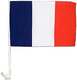 COOLMP Lot de 3 - Drapeau pour Voiture France 30x45cm
