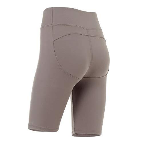 Pantalones Cortos de Cintura Alta para Entrenamiento de Yoga para Mujer, Bolsillos Laterales, para Correr, Motociclista, Gimnasio, Corto, Rendimiento, Medio, Corto, Activo M