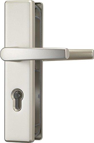 ABUS Tür-Schutzbeschlag KLS114 F2 neusilber mit beidseitigem Drücker 08299