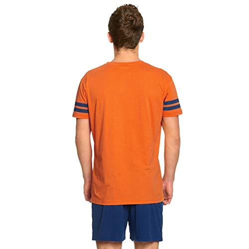 Dragon Ball Z Pijama 2 Piezas Goku Camiseta Shorts Elven Forest algodón Naranja Azul - M