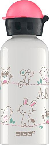 Sigg  Trinkflasche SIGG All My Friends, Kinder Trinkflasche, 0.4 L, Auslaufsicher, BPA Frei, Aluminium, Weiss, Mehrfarbig, 0.4, 8625.80