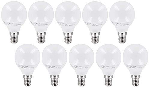 10-pack - LED-lampen mini lamp 3W E14 P45 mat 200° - 260lm - warm wit (3000 K) - flikkervrij IC-driver